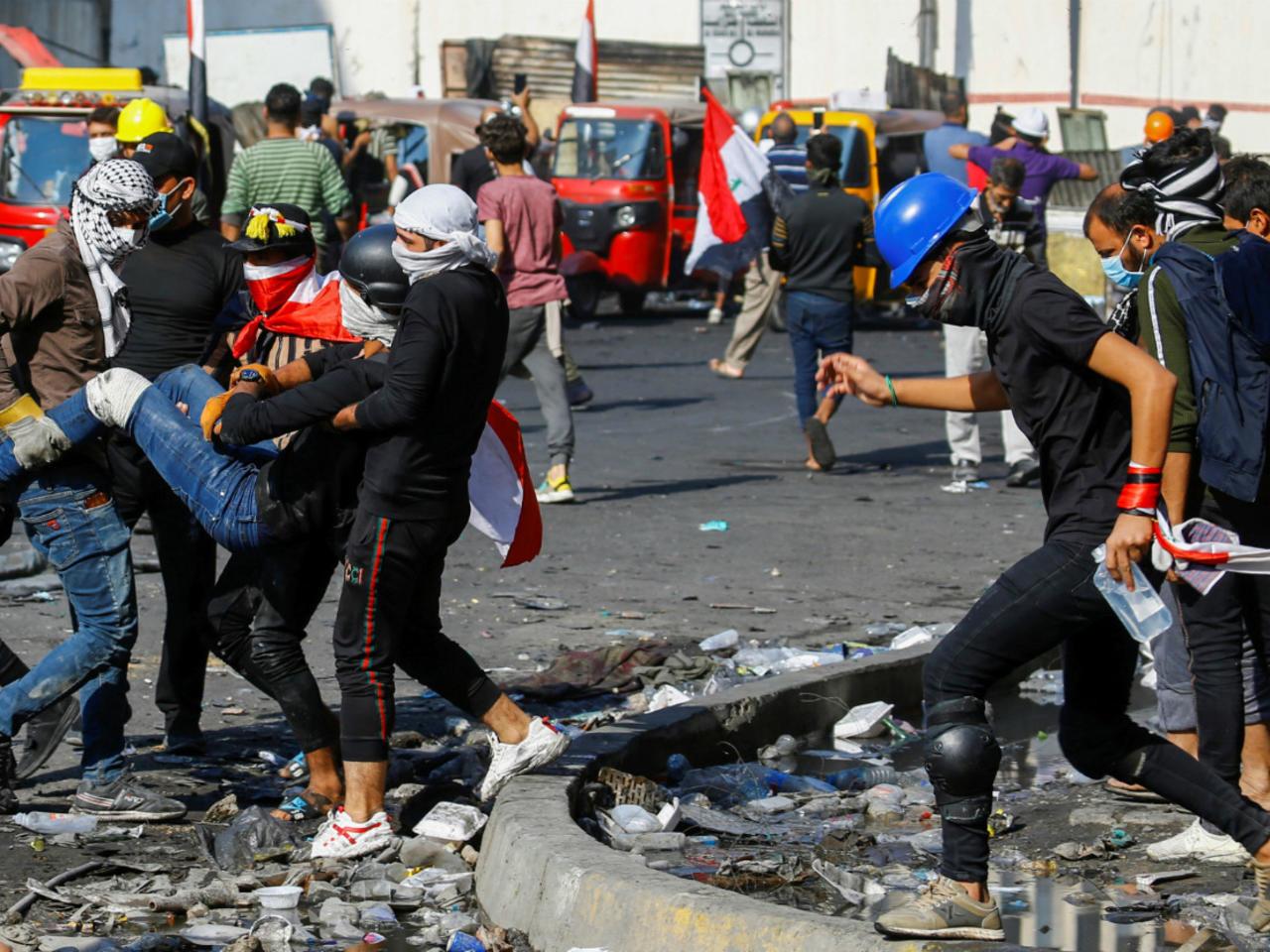 العراق.. قتلى وجرحى خلال صدام المتظاهرين مع قوات الأمن