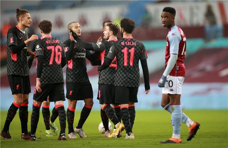ليفربول يُقصي أستون فيلا من كأس الاتحاد الإنجليزي برباعية مقابل هدف