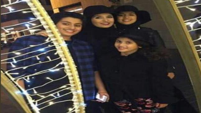 بالصور شاهد الفنانة المصرية المعتزلة جيهان نصر مع أبنائها من زوجها الملياردير السعودي
