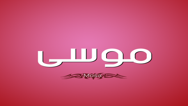معنى اسم موسى في المعجم العربي