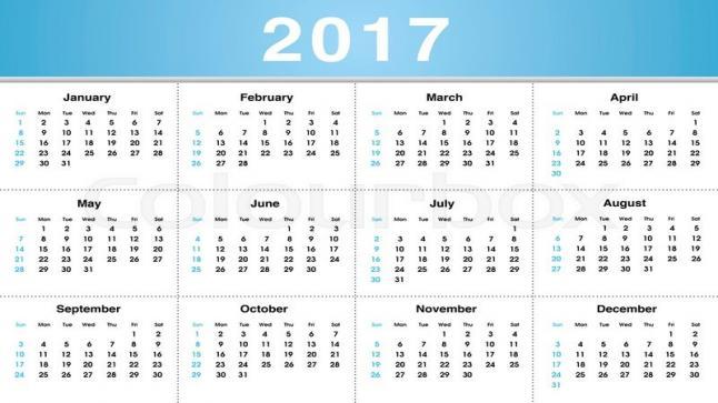التقويم الميلادي 2017 بالعربي pdf تحميل التقويم الميلادي لعام 2017 متوافق مع الهجري