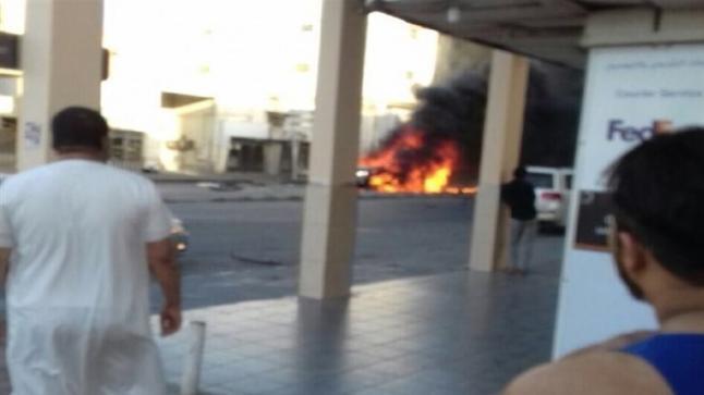 بالصور…أحدث تفاصيل السيارة التي انفجرت في القطيف