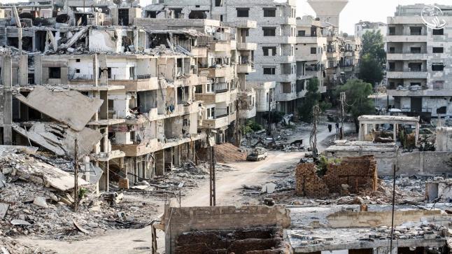 إنتهاء أول مرحلة من إخلاء مدينة داريا بريف دمشق من مسلحي المعارضة