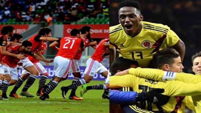 موعد مباراة مصر وكولومبيا الودية اليوم الجمعة والقنوات الناقلة وتشكيل المنتخب المصري