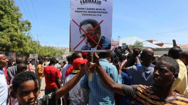 مظاهرات في مقديشيو للمطالبة برحيل فرماجو