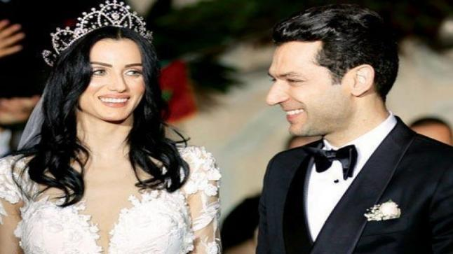 ايمان الباني تخطف الانظار بقفطان مغربي في حفل زفاف هازال كايا