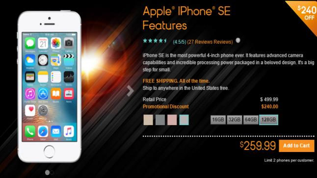 تخفيضات بسعر iPhone SE عبر متجر  شركة فيرجن موبايل الاميركي و متجر شركة Boost موبايل