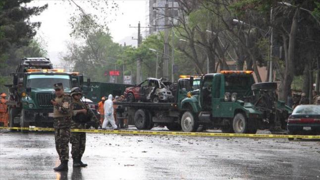 سيارة مفخخة تستهدف رتلا عسكريا للناتو بالقرب من السفارة الأمريكية