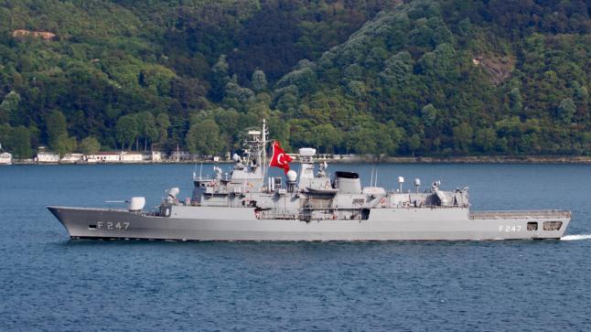 حادث خطير بين فرقاطتين تركية ومصرية بالمتوسط