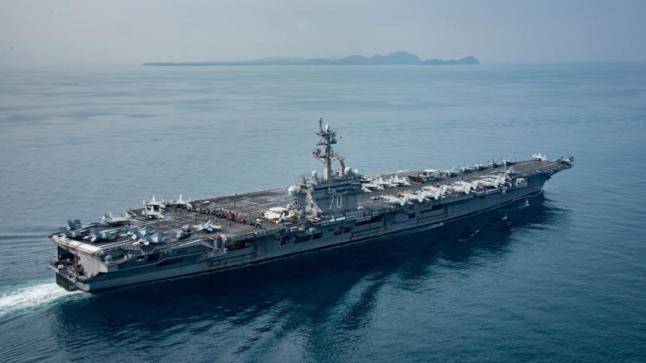 تهديدات كورية شمالية بإغراق حاملة طائرات أمريكية قبالة سواحلها