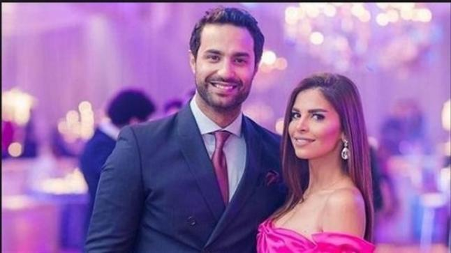 شاهد اطلالة كريم فهمي وزوجته بحفل زفاف شقيقه الوحيد أحمد فهمي