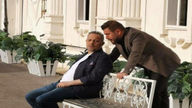 صورة تجمع عابد فهد مع جورج وسوف، ما القصة ؟ هل مسلسل أم كليب جديد؟
