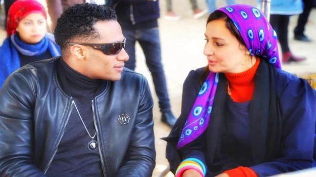 محمد رمضان يحتفل بعيد ميلاد حلا شيحة وابراهيم فخر مخرج مسلسل زلزال