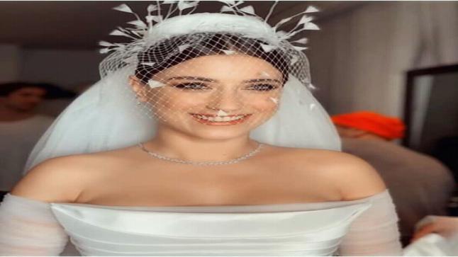 شاهد الصور الاولى من حفل زفاف هازال كايا بطلة مسلسل فريحة