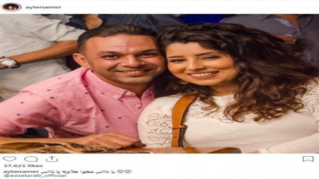 آيتن عامر تغازل زوجها وهذه مفاجئته لها في عيد ميلادها