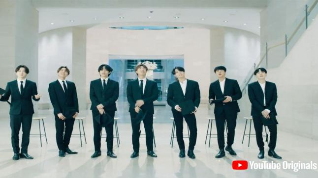 بالفيديو: أعضاء فرقة BTS يتصدرون التريند العالمي لمشاركتهم بحفل dear class of 2020